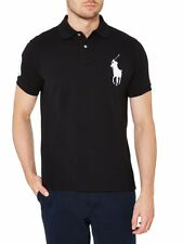 Men's Clothing Ralph Lauren big pony Polo T-shirt Short Sleeves (black XXL)
