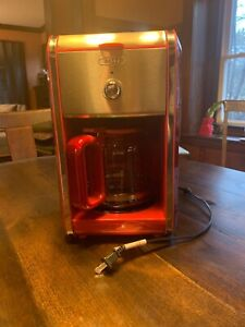 Rare Bella Coffee Machine Red Dot 12 Cup Great Condition!