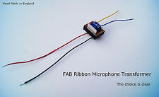 Fab 4196 Microphone à ruban transformateur. Big sortie Big Sound! MXL, RCA, Apex etc.