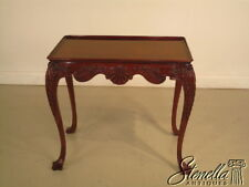 36960: Gorgeous Irish Georgian Carved Mahogany Occasional Tea Table