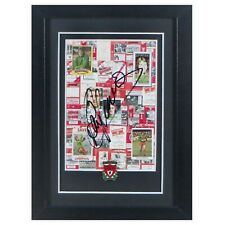 Ray Clemence Liverpool Signed & Framed  Pin Badge