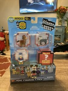 Disney Crossy Road Series 1 Mini Figure 4 Pack :Donald Rafiki Bullseye +? new