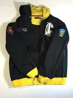 Coogi Hoodie Jacket Full Zip Sweatshirt Vintage Men's sz XL Embroidered Patches