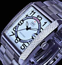 Q&Q by Citizen Herren Armband Uhr Weiß Silber Farben Tag/Datum A154J204Y