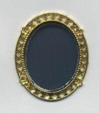Dollhouse Miniature Nursery ABC Oval Wall Mirror ~ CLA10793