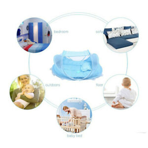 Portable Foldable Baby Bed Infant Crib Cradle Mosquito Sleeping Tent Play Shades
