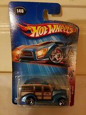 Hot Wheels '40s Woody #146 Crank Itz #4 of 5 2004 Blue 1940s Woodie