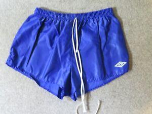 """UMBRO Shiny Nylon Shorts 36"""" Royal Blue Vintage/Retro USED"""