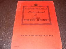 Service Manual For Massey Harris Tractor Hydraulic Equipment Feb 1954