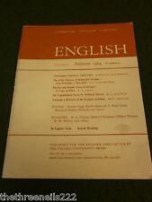 ENGLISH ASSOCIATION - AUTUMN 1964 VOL 15 # 87 - WILLIAM MORRIS - CHRIS MARLOWE