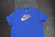 Nike Dri Fit Running Herren Shirt Run Blau Neu mit Etikett Größe XL Neu Etikett