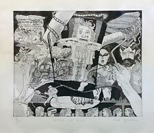 """RED GROOMS """"HEADS UP D.H."""" 1980   SIGNED   ETCHING/AQUATINT   COA   SEE LIVE*"""