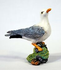 "Hand Painted 4"" Seagull Sea Bird Statue Figurine Sculpture 75T-A"