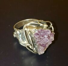 Ring Size 8 Hand Made Amethyst