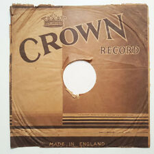 """CROWN RECORD 9"""" 78RPM SLEEVE Made In England"""
