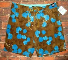 MENS REEF BROWN SWIM BOARD SHORTS SIZE 36