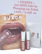 (2x) BUXOM Full-On Lip Gloss Polish CELESTE Prismatic Soft Peach 0.05fl oz MINI