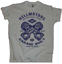 Herren T-Shirt Old School US Car Motorcycle Garage Built Brand Custom Wear grey