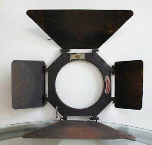 "Metal Barn Doors for Studio Camera Photography Lights 7in"" Diameter Fitting"