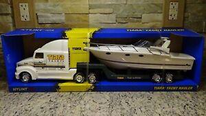 NIB rare 1997 vintage Nylint Freightliner Semi boat truck Tiara Yachts promo