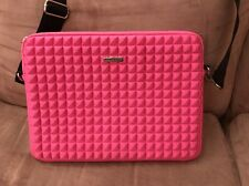 Rebecca Minkoff Pyramid Stud Neoprene Pink Laptop Bag 13 Inches