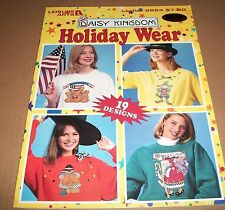 LEISURE ARTS COUNTED CROSS STITCH PATTERN BOOK 2884 HOLIDAY WEAR 1996