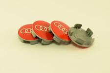 tapas llantas  ruedas de tu coche wheel center caps AUDI ROJO 55mm 60mm 4x