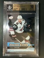 2016-17 Upper Deck Lawson Crouse Young Guns Clear Cut Acetate Rookie BGS 10