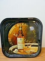 Original Vintage John Dewar & Sons Pub Serving Tray White Label Scotch Whiskey
