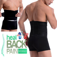 Double Pull Lumbar Support Lower Waist Back Belt Brace Compression Pain Relief