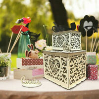 Wedding Card Post Wooden Box Collection Gift Card Boxes with Lock Weddings