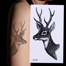 New Design Deer Elk Tattoo Removable Waterproof Stickers DIY Body Art Tatoo BITY
