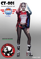 【FREE SHIPPING】1/6 Suicide Squad Harley Quinn Sexy Clothing Set w/ Head Sculpt