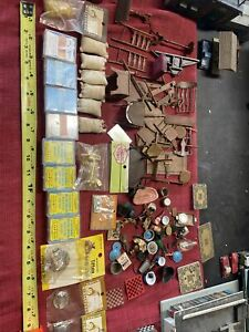 Large Vintage Doll House Accessories Lot 1:12 Scale NICE LOOK PARTS REPAIR