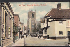Norfolk Postcard - St Peter's Church & Bell Inn, Thetford   MB395