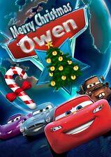 McQueen Cars personalizzata cartolina di Natale! spedizione GRATUITA 1st CLASSE! chrlas 16