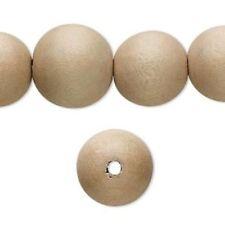 4mm agujero 14 15mm de diámetro ronda granos de madera de pino