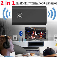 2in1 Bluetooth Transmitter & Receiver Wireless A2DP TV Home Stereo Audio Adapter