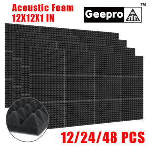 Geepro 24Pcs Acoustic Panels Tiles Studio Sound Proofing Insulation Foam
