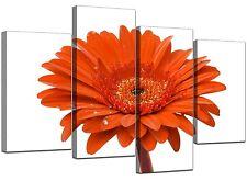 Large Orange Gerbera Daisy VW Canvas Wall Art Pictures Prints XL 4140