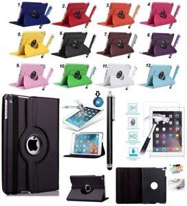 💥360° Schutz Hülle für Apple iPad 💥inkl. SchutzGLAS FOLIE Klapp Tasche Case💥