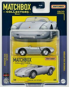 2021 Matchbox Collectors #08 Porsche 550 Spyder SILVER / CAR CARD ART / MOC
