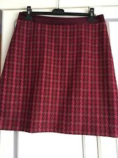 Laura Ashley Pure Wool Burgundy A Line Skirt - Size 12 New £75
