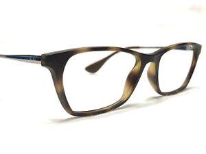 Ray Ban RB7053 5365 Womens Tortoise & Gunmetal Modern Rx Eyeglasses Frames 52/17