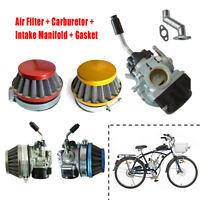 Carburetor Carb Air Filter Intake Gasket 49cc 80cc 2 Stroke Motorized Bike