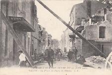 SALON tremblement de terre 11 juin 1909 la place du puits du mouton bar