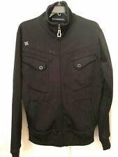 MONARCHY Full Zipper Black Track Jacket - Men's Size Medium - Excellent Cond