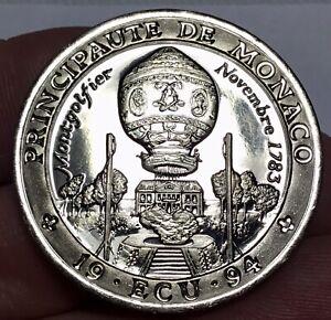 1994 PRINCIPAUTE DE MONACO SILVER 1 ECU COIN #1