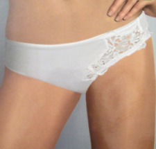 Pierre Cardin Dalia 4103 Satin feel thong White or Ivory. Sheer mesh back Bridal