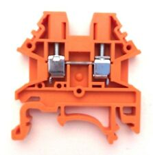 DIN Rail Terminal Blocks 100 Quantity DK2.5N-OR Orange Dinkle 12AWG 20A 600V